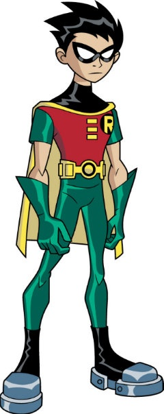Robin:Teen titans leader.... don't ask him to take off the mask XD