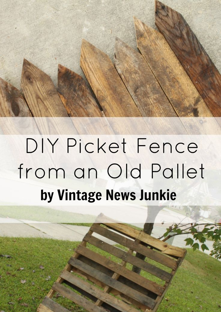 1000 ideas about wood pallet fence on pinterest pallet for Pallet picket fence