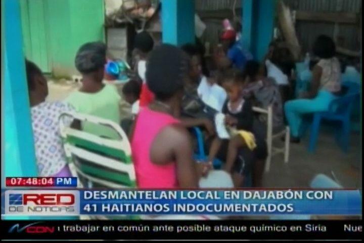 Autoridades Fronterizas Y Otros Entidades, Desmantelan Local En Dajabón Con 41 Haitianos Indocumentados