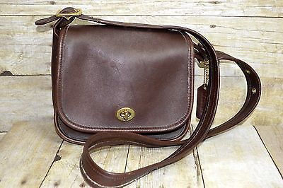 Vintage-Coach-Legacy-Cross-Body-Bag-Dark-Brown-Leather-Made-in-USA-Hang-Tag-9965