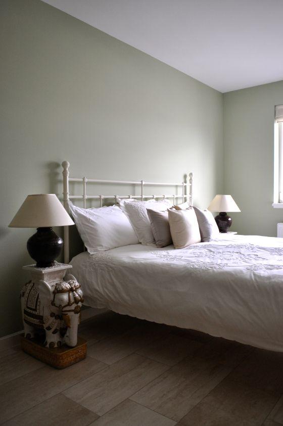 groene slaapkamer in aziatische stijl