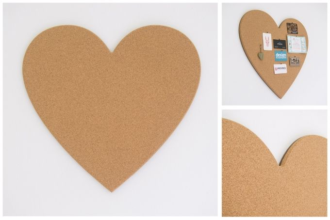 getCork Heart Shaped pin board by get cork