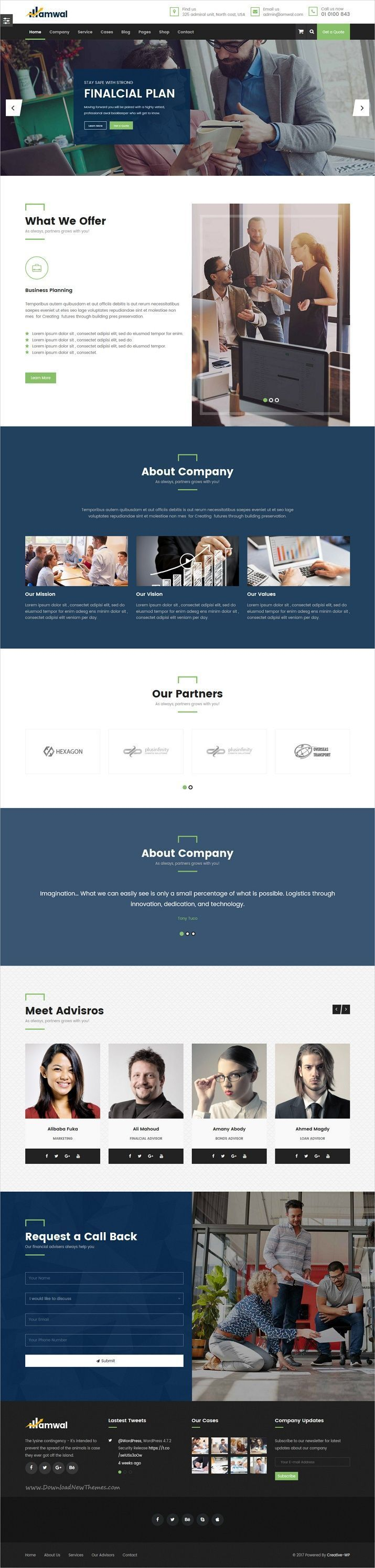 consulting firm cover letter%0A Amwal   Consulting  Business  Finance  Accounting WordPress Theme