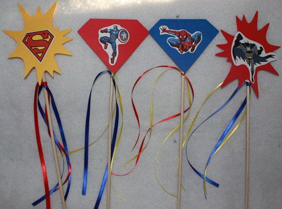 I could make these Super hero wands or do it as a craft station
