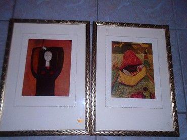 Prodám dva zlacené rámy ze sklem cena
