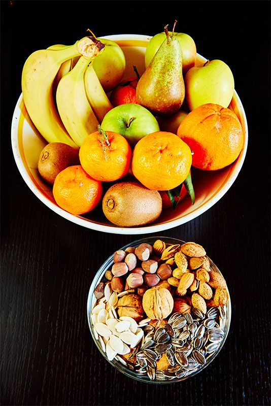 Part of the reason I feel so healthy, I finish every meal with fruit and nuts!