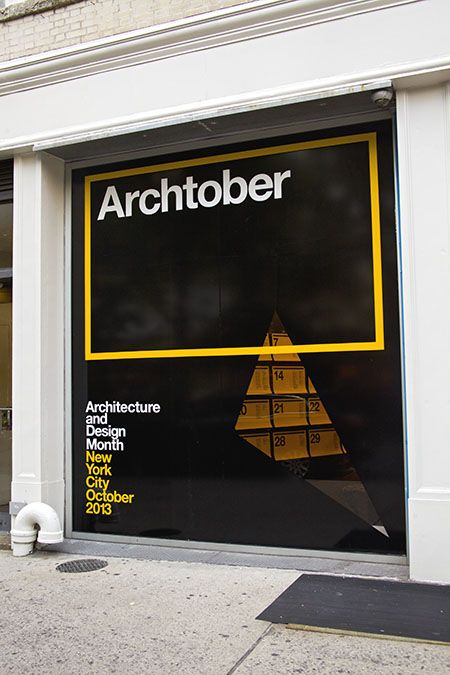 The storefront window of the Center for Architecture has been blacked out except…