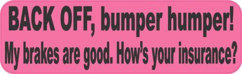 "10"" x 3"" Back Off Bumper Humper Sticker Decal Vinyl Truck Window Stickers Decals | eBay"