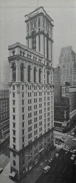 U.S. The Original New York Times Building in Times Square, New York at 42nd Street and Seventh Avenue, 1964