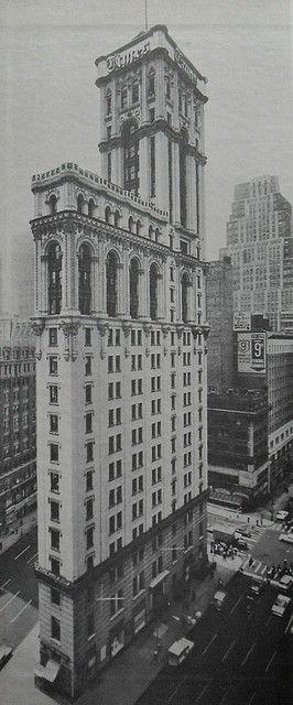 1964 TIMES TOWER ORIGINAL New York Times 42nd Street at 7th avenye NYC vintage photo NEW YORK CITY