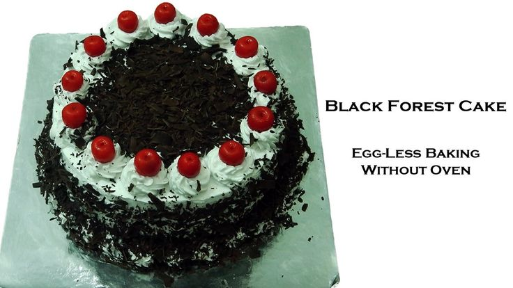 Eggless baking, without oven, black forest cake! Simple ingredients and demonstrated by a teen.