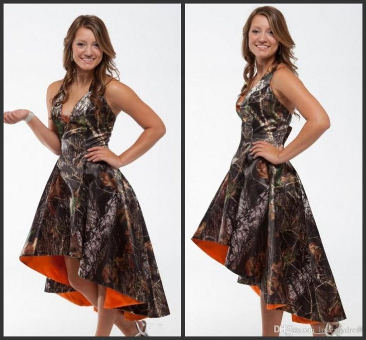 High Low Camo Pro Mdress Short Bridesmaid Dress Halter Neck V Neck Sleeveless Chepa Price Hot Sale Charming Discount Bridal Gowns Dress For Girl From Lovemydress, $75.38| Dhgate.Com
