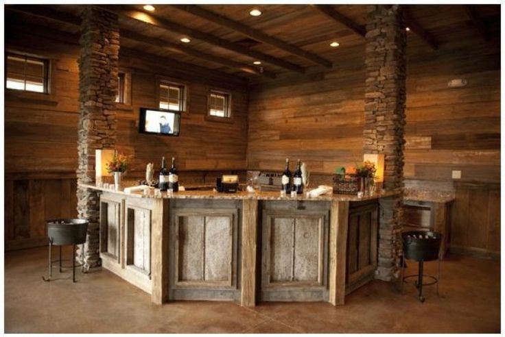 25 best ideas about rustic basement on pinterest