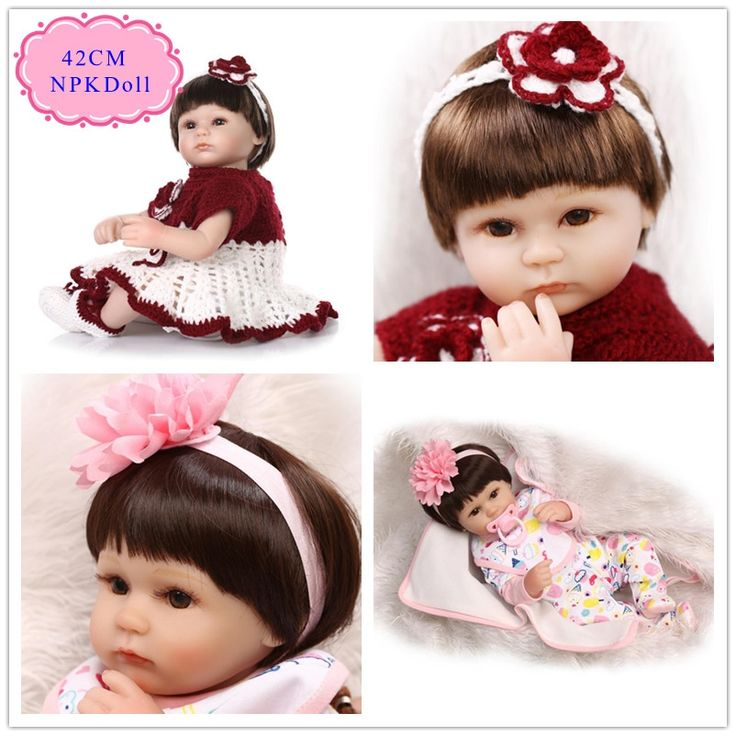 62.90$  Watch now - http://alicj4.worldwells.pw/go.php?t=32706926568 - 42cm 17'' 1PC/Set Silicone-Reborn-Baby-Dolls With Fashion Design Baby Doll Clothes Hot Style Boneca Reborn De Silicone Best Gift 62.90$