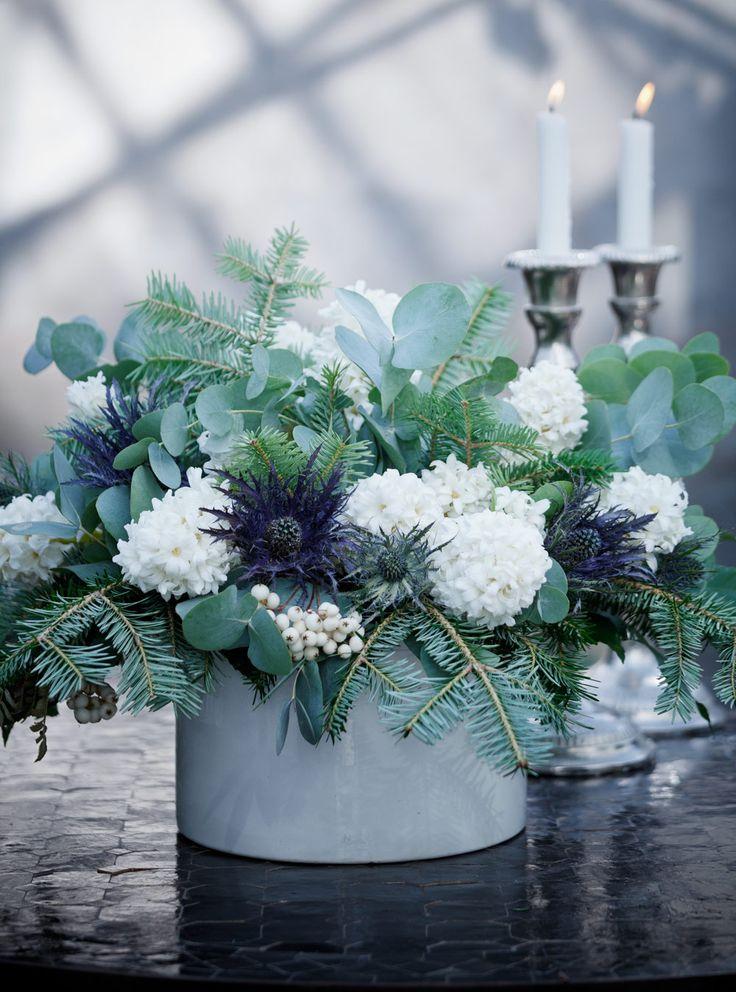 Ideas about christmas flower arrangements on