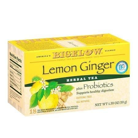 Bigelow Herb Tea plus Probiotics Lemon Ginger - 0.08 oz.