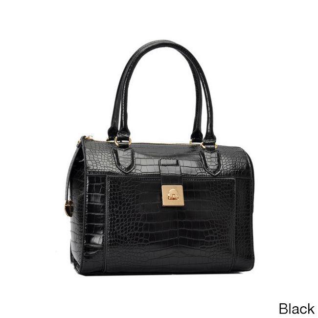 Oasis Handbag 'Essie' Glossy Pattern Satchel Bag, Women's