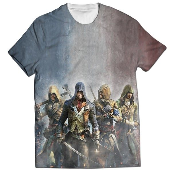 ASSASSINS CREED UNITY ALL OVER PRINTED T-SHIRT Visit: http://www.thewarehouse.pk/assassins-creed-unity-all-over-printed-t-shirt-14513