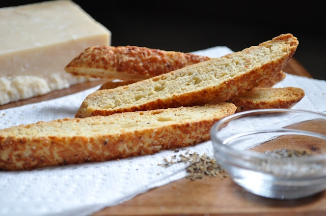 Savory Parmesan & black pepper biscotti. | Baked Goodies, Sweets & Dr...