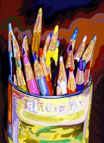 """Colored Pencils"": Deborah Claxton, 1999"
