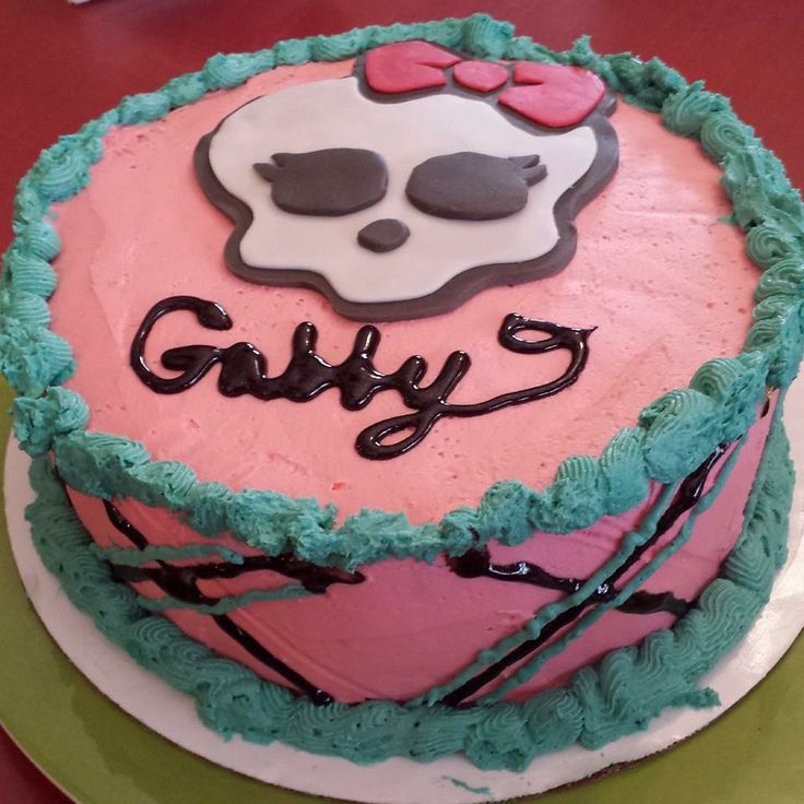 Monster High Cake I did for niece Gabby's 7th b-day