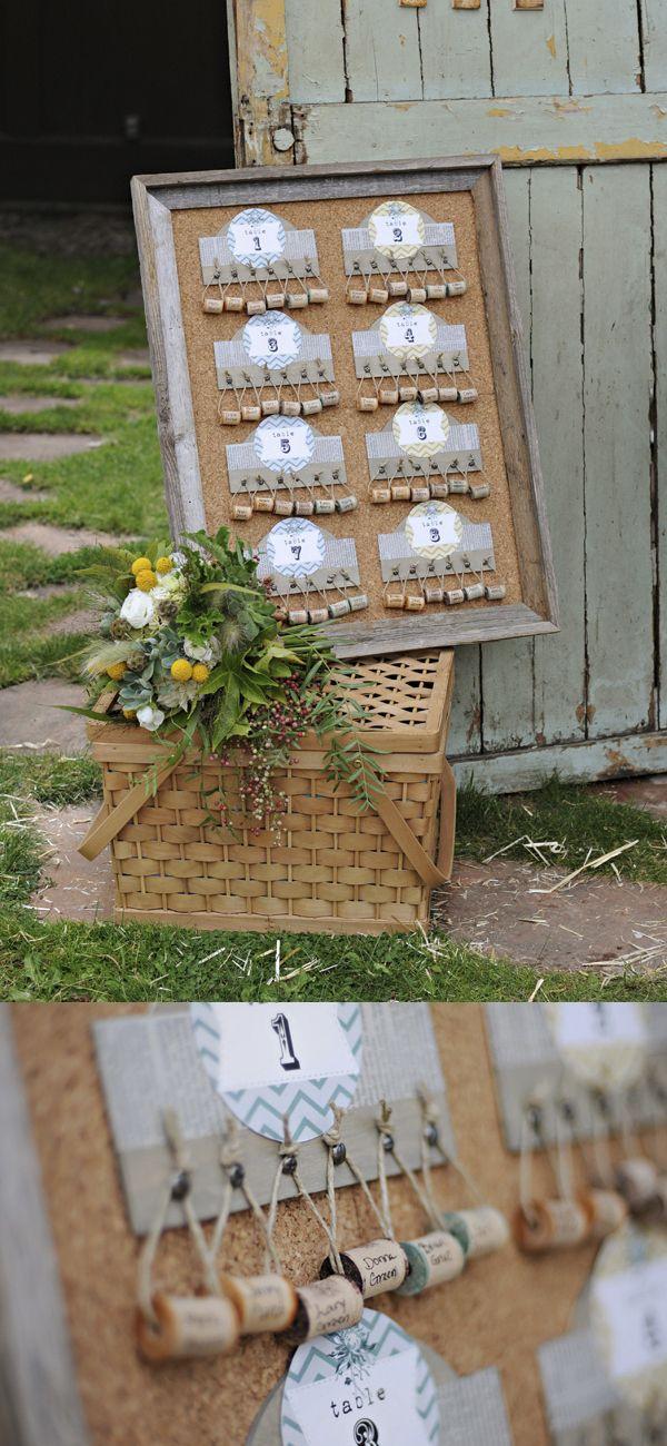 Un seating plan original para tu boda