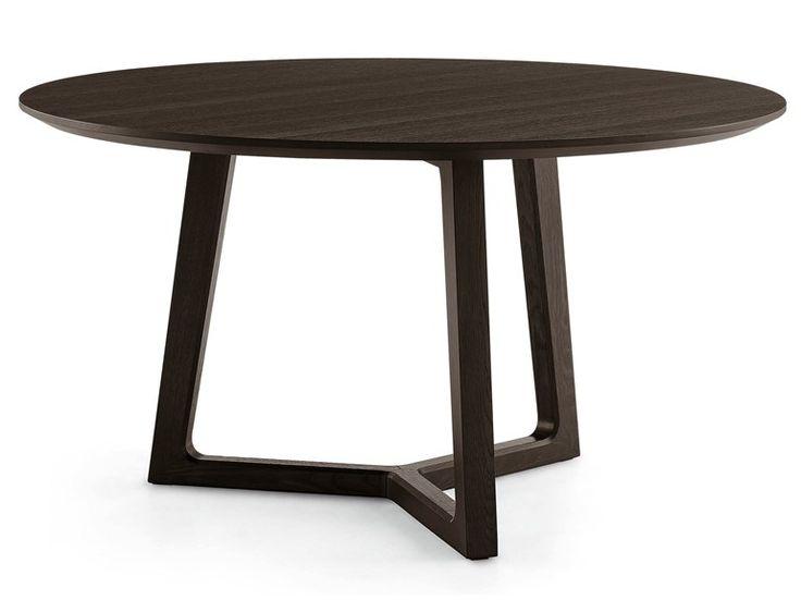 Mesa redonda de madeira CONCORDE Coleção Concorde by POLIFORM | design Emmanuel Gallina
