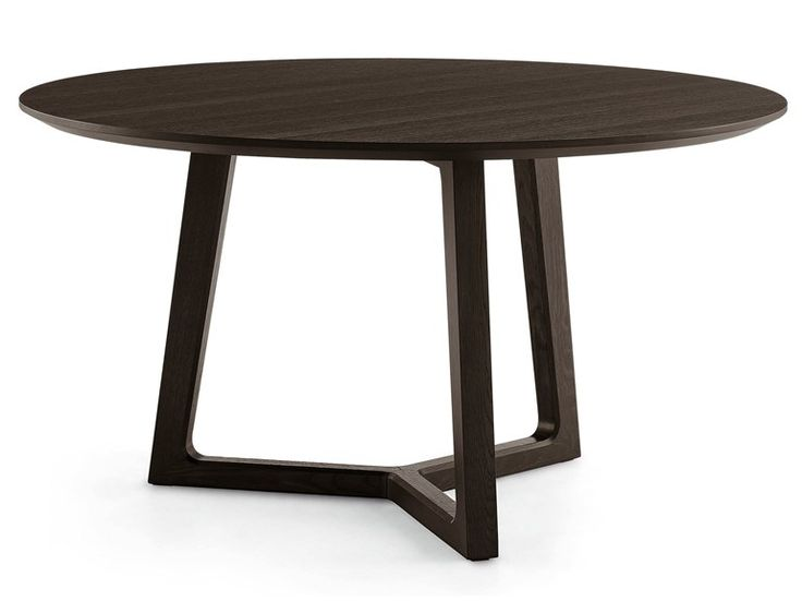 Mesa redonda de madeira CONCORDE Coleção Concorde by POLIFORM | design Emmanuel Gallina: Dining Table, Furniture Table, Table, Round Tables, Wooden Table, Design, Poliform, Concorde Table