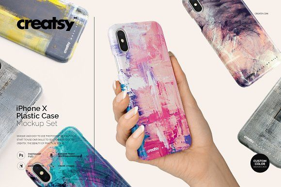 Download Iphone X Plastic Case Mockup Set Plastic Case Case Iphone