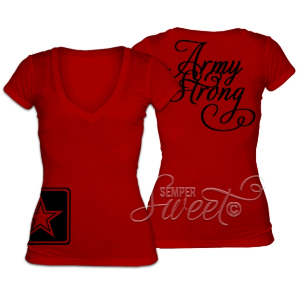 Army Love <3 Custom military apparel by Semper Sweet! #sempersweet #pin2win