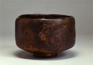 Raku Ware,16th century,Japan,長次郎作 黒樂茶碗 勾当(16世紀)