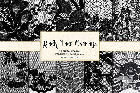 Black Lace Png Overlays Overlays Transparent Lace Overlay Digital Paper