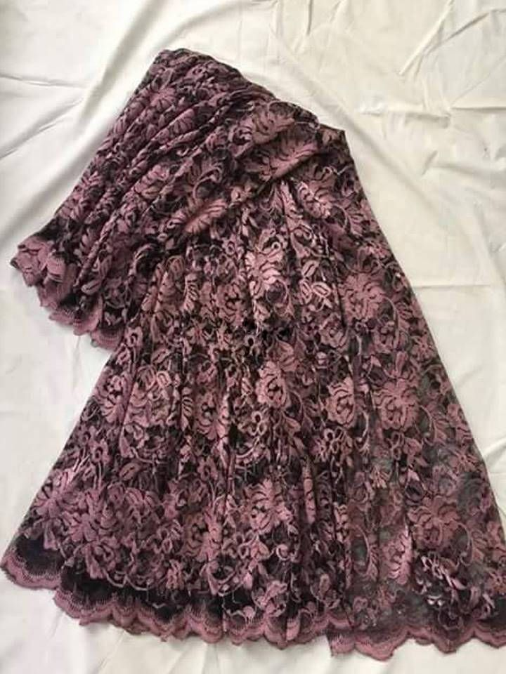 Mauve Pink Lace net Sari by ZainabBoutique on Etsy