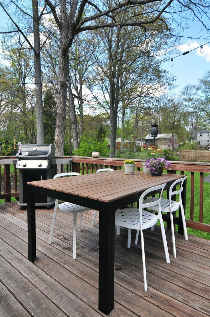 Ikea table and chairs--mix and match indoor and outdoor furniture