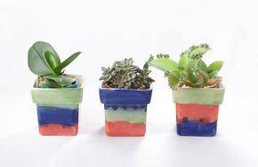 Cachepôs para suculentas #ceramics #ceramiche #ceramica #pottery #succulents #suculentas #jardinagem #paisagismo #vasos #vase #clay #cachepot #cachepo