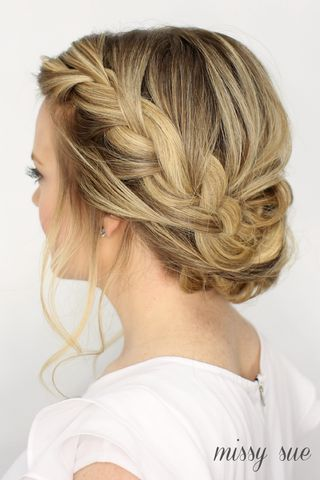 This Fancy French Braid Updo would be lovely for prom. If your prom is already past then it could also work as a style for a formal occasion such as a wedding. I receive a lot of requests around this