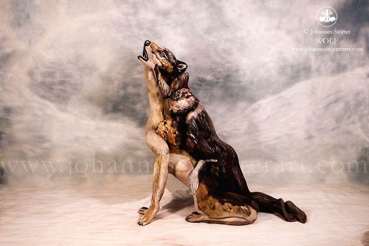 Body Painting  un loup composé de 3 personnes par Johannes Sttter  2Tout2Rien