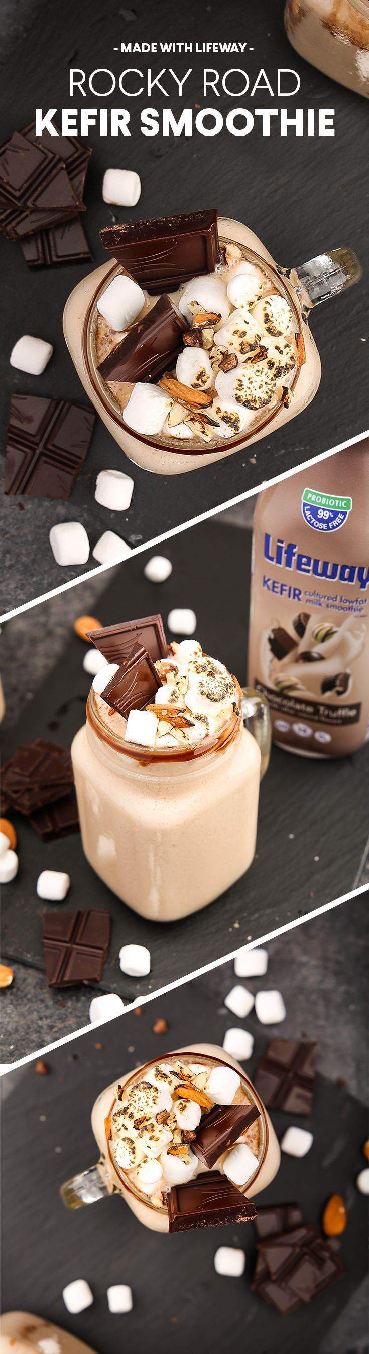 Our Rocky Road Kefir Smoothie tastes just like your favorite ice cream blend, but at a fraction of the calories.