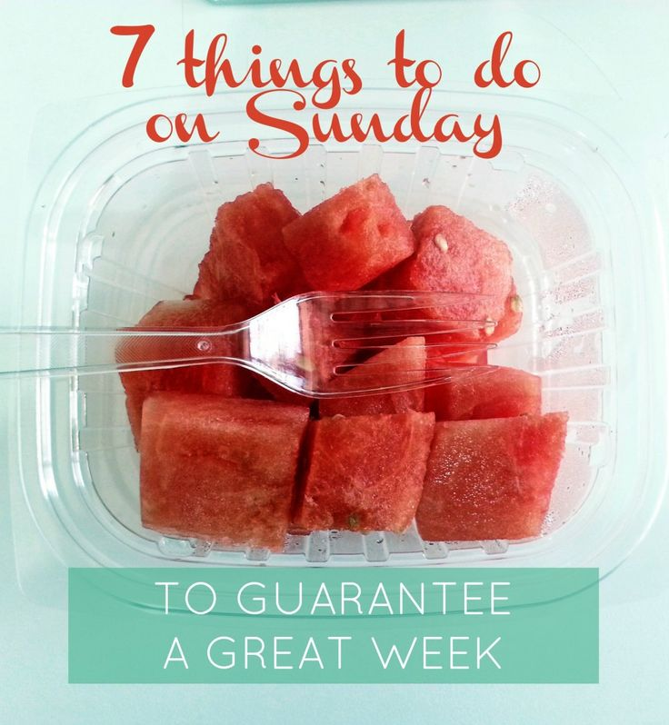 This is a great post of things to do on Sunday to kick off a great week. Love her ideas.