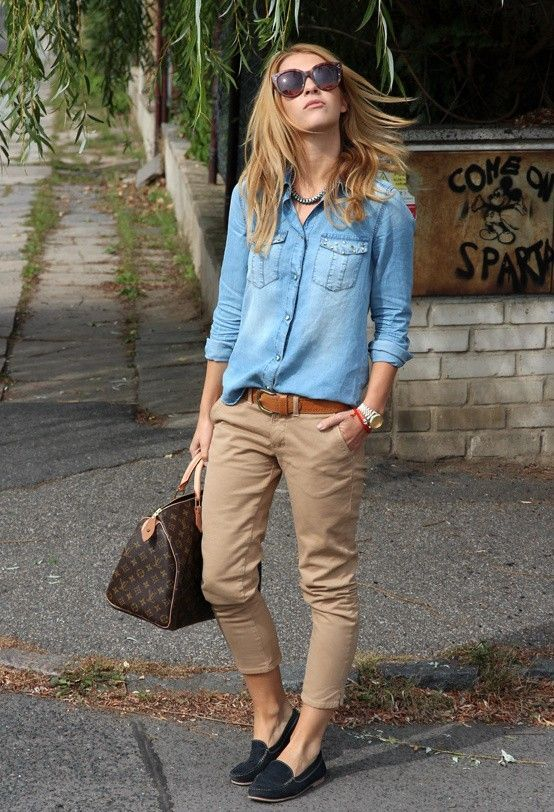 Chic Ways to Wear Khaki Pants