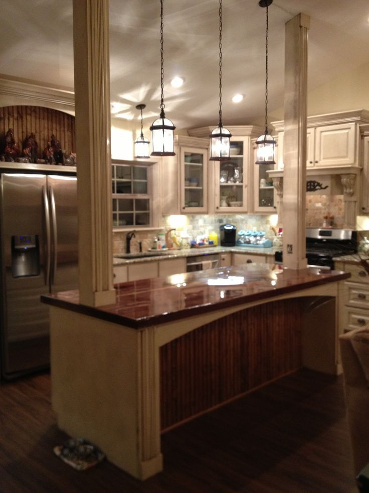 What Is A Kitchen Island With Pictures: Kitchen Island Support Columns