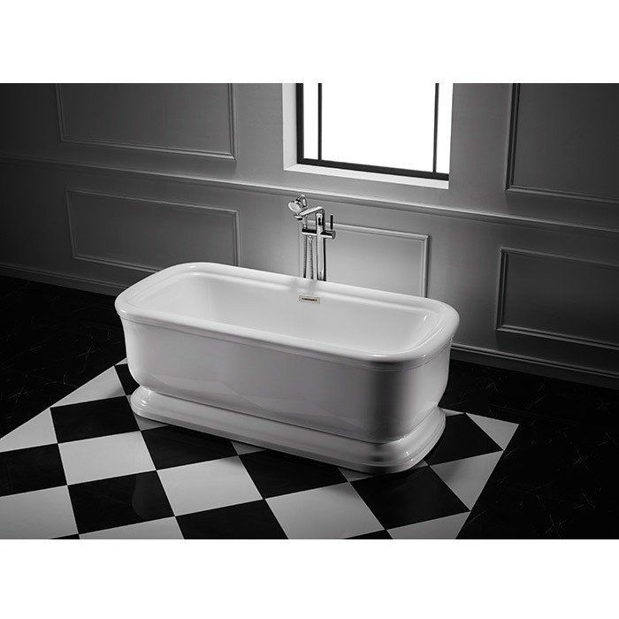 Windmere 67 Inch Acrylic Double Ended Freestanding Tub No Faucet
