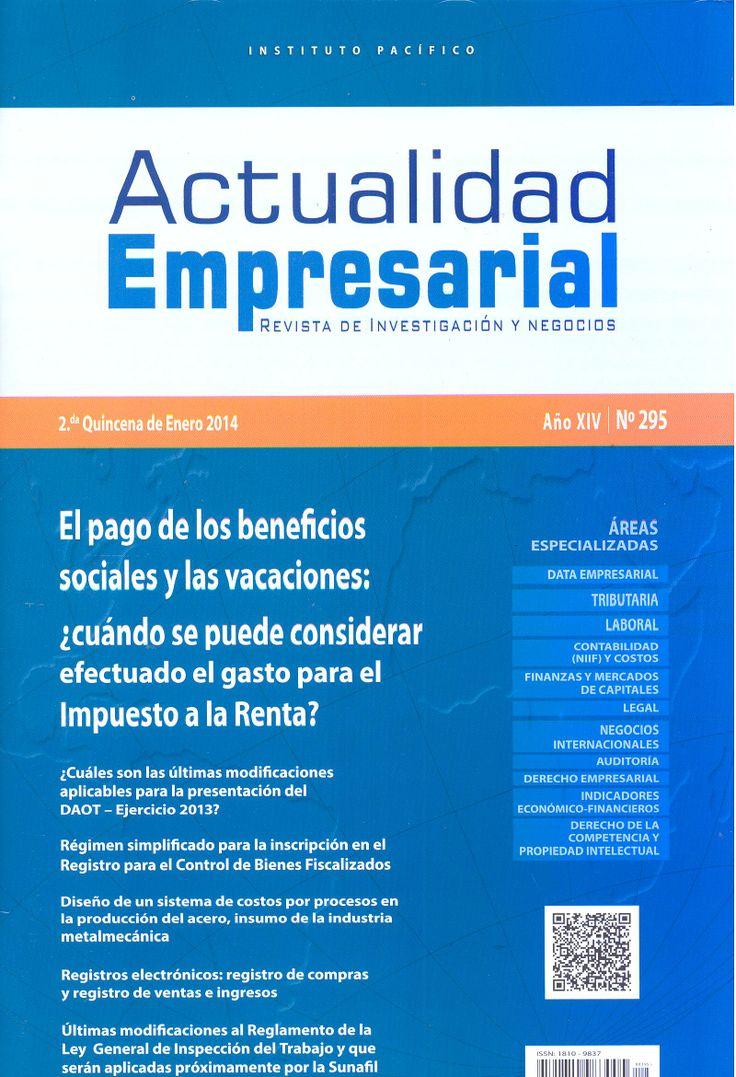 Actualidad Empresarial. Dsiponible en la Hemeroteca (Biblioteca Central - Nivel 4A)