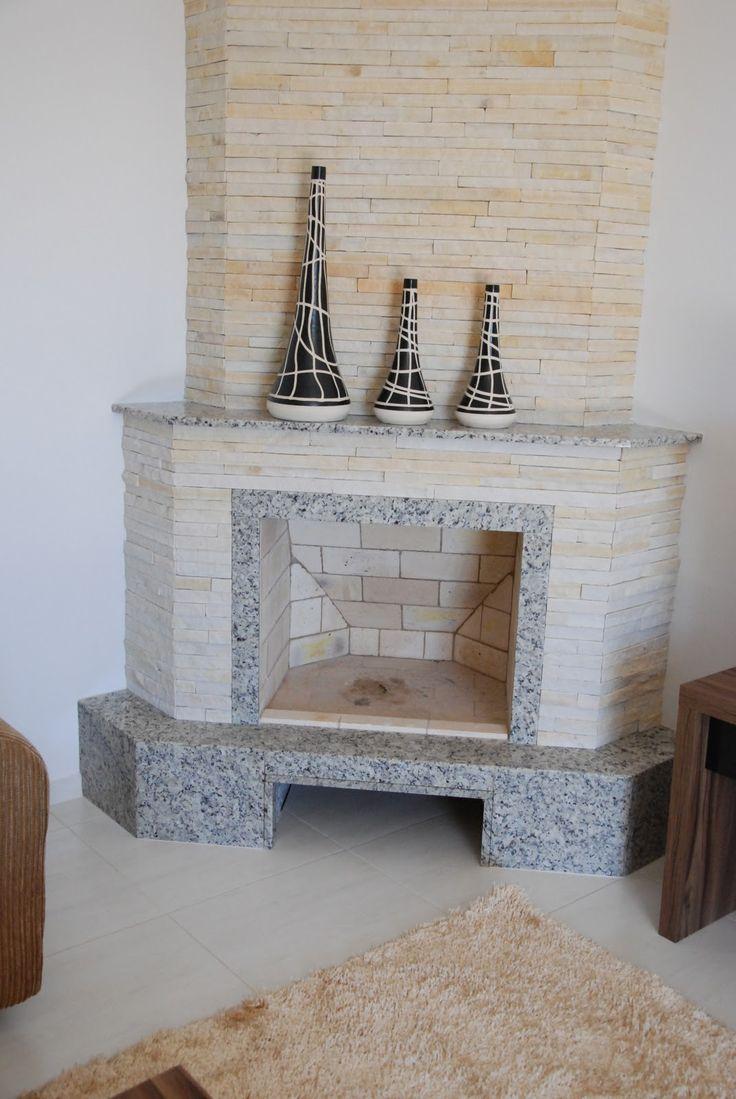 lareira de canto em granito arabesco