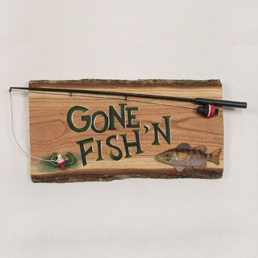 Gone Fishing Signs Decor 8 Best Fishing Crafts Images On Pinterest  Fishing Crafts
