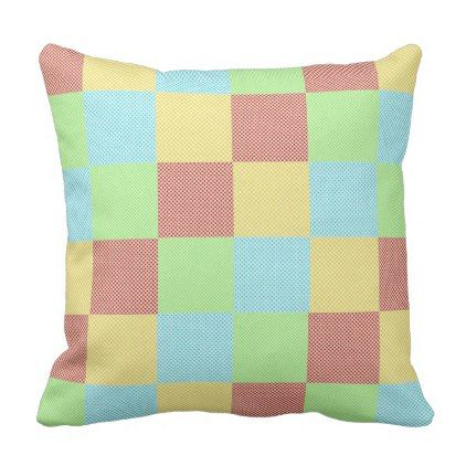 Multicoloured pattern outdoor pillow - home gifts ideas decor special unique custom individual customized individualized