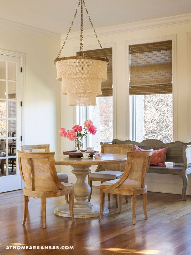 The breakfast nook just off the kitchen