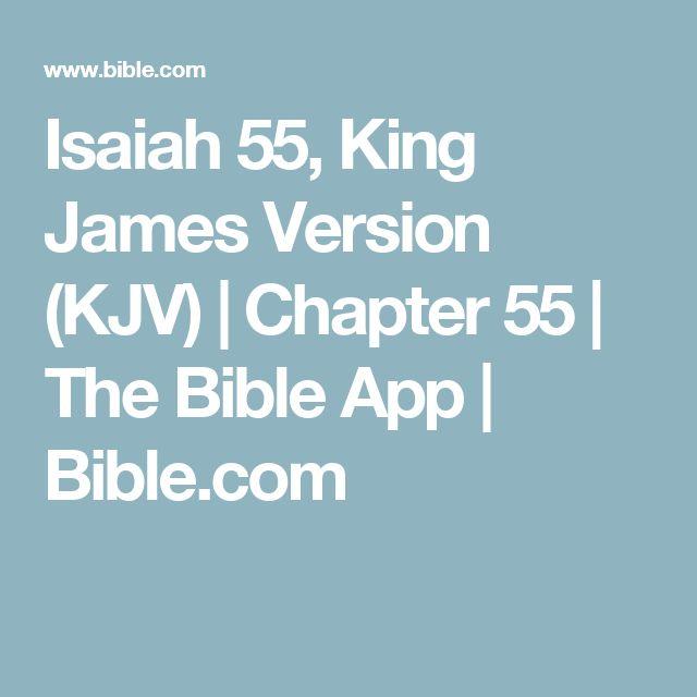 Isaiah 55, King James Version (KJV) | Chapter 55 | The Bible App | Bible.com