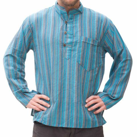 Hippie Blue Stripped Shirt