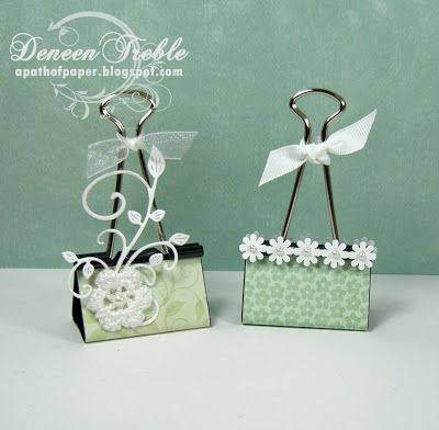 Large Binder Clips ~ pretty for a wedding favor with table numbers or names. or even to label food - display menu